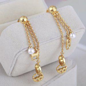 Tory Burch Pearl Ring Stud Earrings